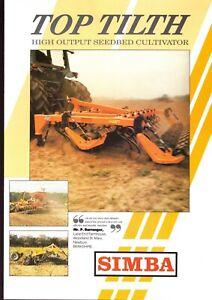SIMBA UK SEEDBED CULTIVATOR Saatbettgrubber 90er Agrar-Prospekt 4 S  #607