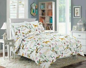 Horse Show Winter Christmas Print Duvet Quilt Cover Bedding Set & Pillowcases