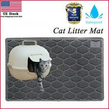 """Large Size (35"""" x 23"""") Gray Cat Litter Mat Premium Mat Pat Non-Slip Lightweight"""