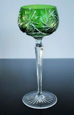 Antique 1 Glass Chalice Crystal Double Layer Green Colour Size st Louis