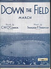 Down the Field March 1930 Yale Football Sheet Music