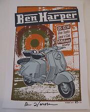BEN HARPER Milan, Italy 2014 Signed / Autographed Vespa #'d Print - Poster