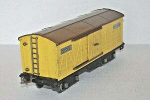 LIONEL LINES PREWAR NO.514 STANDARD GAUGE YELLOW/BROWN BOX CAR