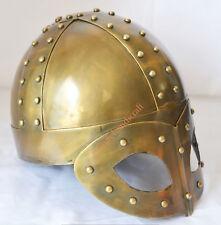 Viking Mask Deluxe Brass Antique Finish Medieval Helmet W/Liner-Halloween Gift