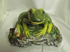 """Large The Townsends Ceramic Frog In Woods Signed 14 x 14 x 6"""" High"""