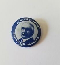 For President Warren G Harding Reproduction Political Campaign Pinback Button