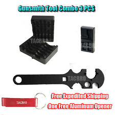NEW 3 Pc Combo 223/556 Upper & Lower Receiver Vise Block & Wrench Armorer's Tool