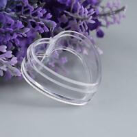 10pcs Plastic Empty Cosmetic Lip Balm Cream Pot Jar Container Heart Box N5Y4