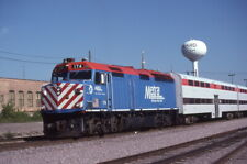 Metra - 174+ - F40 w/passenger train - Original 35mm Kodachrome Slide