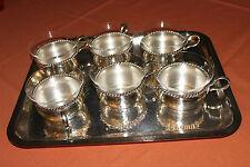 Filigran punziert Alpaka 1 x russischer UdSSR 60er Teeglashalter aus  Melchior