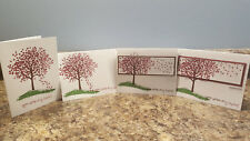 New listing 4 Stampin' Up! Handmade All Occassion Greeting Cards featuring Sheltering Tree
