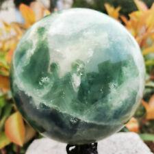3920g Natural Green Fluorite Ball Quartz Crystal Healing Sphere Reiki Stone