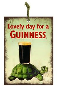 Guinness Tortoise Mini Metal Sign Hanging Decoration 80 x 110mm