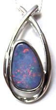 Australian Natural Boulder Doublet Opal Sterling Silver Pendant Jewellery