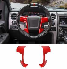 for Ford F150 Steering Wheel Bezel Decorative Trim Cover for F150 2009-2014 Red