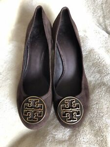 Tory Burch Brown Suede Court Shoes UK7