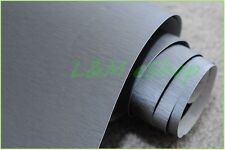 Película de envoltura de vinilo Coche de Aluminio Cepillado Burbuja De Aire Libre Gris Oscuro 30 cm X 1.52 M