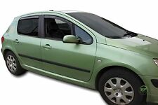 DPE26119 PEUGEOT 307 HTB 2001-2008 WIND DEFLECTORS 4pc HEKO TINTED
