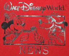 Rare Walt Disney World News Windbreaker Jacket Mickey Mouse Goofy Disneyworld