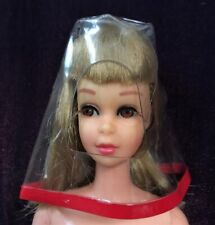 Vntg 1967 Francie CLEAR OUT #1281 HTF Clear Vinyl Red Border Rain Hat ~NICE!