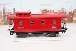 Vintage Prewar Lionel Standard Gauge No.517 Red Nickel Trim Caboose