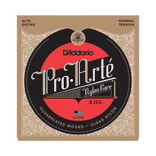D'Addario EJ52 Pro Arte Alto Guitar Strings normal tension clear nylon