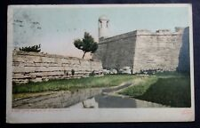 1910 POSTCARD FORT MARION ST AUGUSTINE FLORIDA SENT TO BROOKVILLE INDIANA
