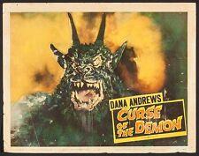 "Poster Curse of the Demon 1957 Lobby Card 11""x14"" F 6.0 Dana Andrews"