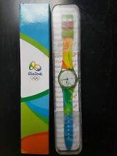 2016 Olympic Games Rio Brazil Volunteer Official SWATCH Watch NEW ORIGINAL CASE!