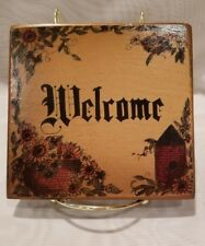 Wooden Hand Made Welcome hanging sign