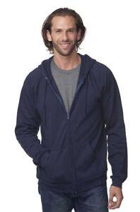 Men's 100% Organic Cotton-Full Zip Hooded Sweatshirt 21051ORG