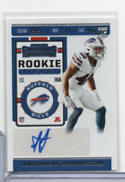 Jaquan Johnson Bills RC Signed 244 Rookie Ticket Panini 2019 102820MLCD3