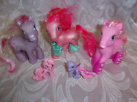 "My Little Pony 4"" Pink & Purple Horses 2 2"" Winged Horses Toy"