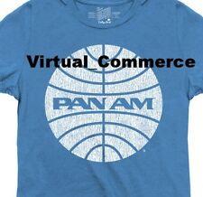 Brookstone Pan Am Womens Tee Shirt T-Shirt Retro Graphic Lightweight Blue Small