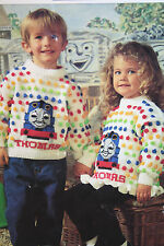 Thomas the Tank Engine Jumper Knitting Pattern for Boys and Girls