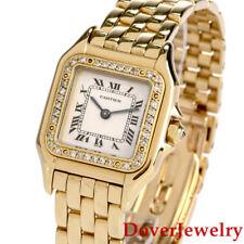Cartier Diamond 18K Yellow Gold Panthere Women's Watch 65.9 Grams NR