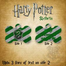 Personalised Pet Tag - Dog Tag - Bone Tag - Harry Potter - Slytherin Design