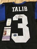 Aqib Talib Autographed/Signed Jersey JSA COA Kansas Jayhawks Broncos LA Rams