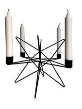 44cm Cepewa WA weihnachtlicher Kerzenhalter Leuchter STERN Metall schwarz H