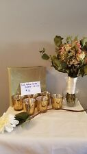 Gold Votive Candle Holders: Set of 6