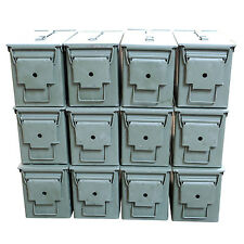 12 Pack M2A1 Surplus 50cal Size Metal Ammo Cans/Ammo Box - Excellent Grade A