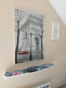 "Half Surfboard Wall Shelf 40"" Bookshelf Wood Surfing Art Decor New"