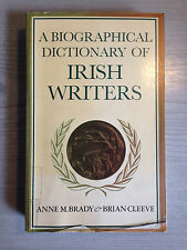 Biographical Dictionary of Irish Writers Paperback Book Anne Brady Brian Cleeve