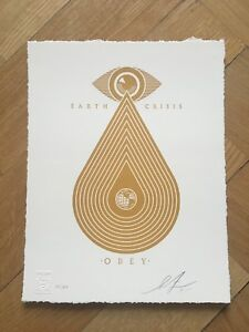 Shepard Fairey Obey Earth Crisis Letterpress print