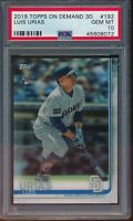 2019 Topps On Demand 3D #192 Luis Urias RC PSA 10 Gem Mint Rookie SP /540