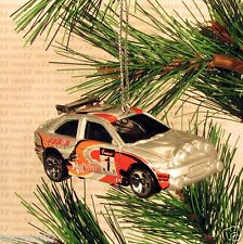 1996 FORD ESCORT RALLY Race Car CHRISTMAS ORNAMENT Grey/Silver rare XMAS