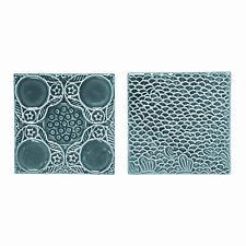 Deko Fliesen 2er Set turkisgrün Keramik Retro Skandinavisch Bloomingville