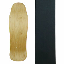 "Old School Skateboard Deck 9.9"" x 30.4"" Natural with Griptape"