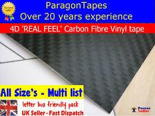 4D BLACK CARBON FIBRE Wrap Tape vinyl film Bike Frame Pimp MTB BMX Air Release