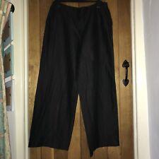 Oska Black Linen/cotton Trousers